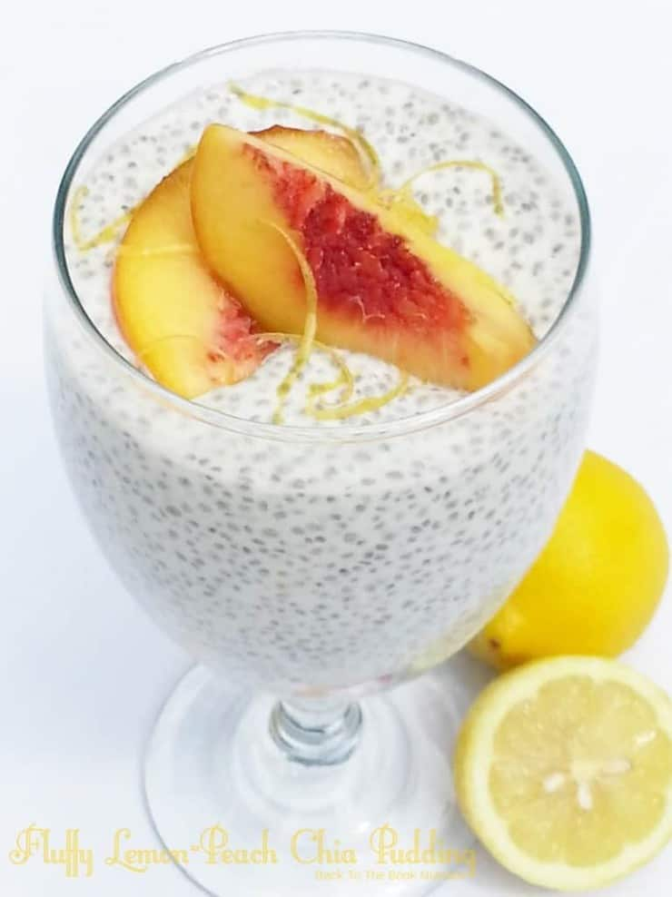 Fluffy Fluffy Lemon Peach Chia Pudding