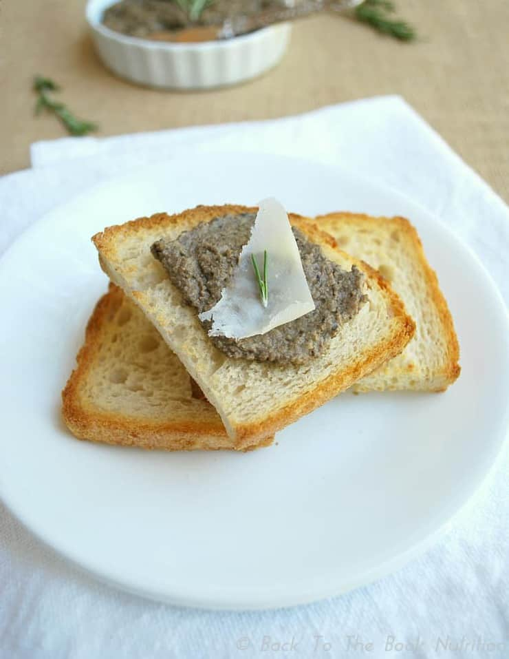 Chicken Pate with Rosemary, Sage & White Wine on Toast | Back To The Book Nutrtition