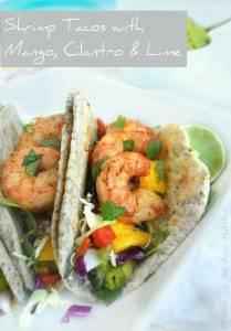Shrimp Tacos with Mango, Cilantro & Lime