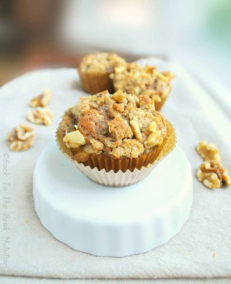 Zucchini Muffins with Maple Walnut Streusel