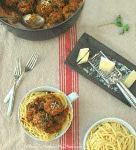 Italian Meatballs with Spinach and Mushrooms | Back To The Book Nutrition