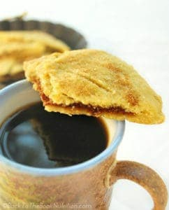 Hot coffee and homemade pumpkin hand pies - fall breakfast doesn't get much better | Back To The Book Nutrition