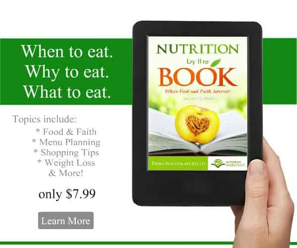 Nutrition By The Book: Where Food and Faith Intersect ebook, only $7.99 | Back To The Book Nutrition