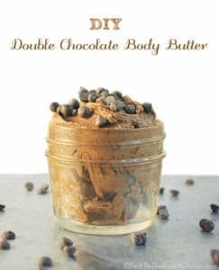 DIY Double Chocolate Body Butter is luxurious and smells divine - Perfect for the true chocolate lover! | Back To The Book Nutrition