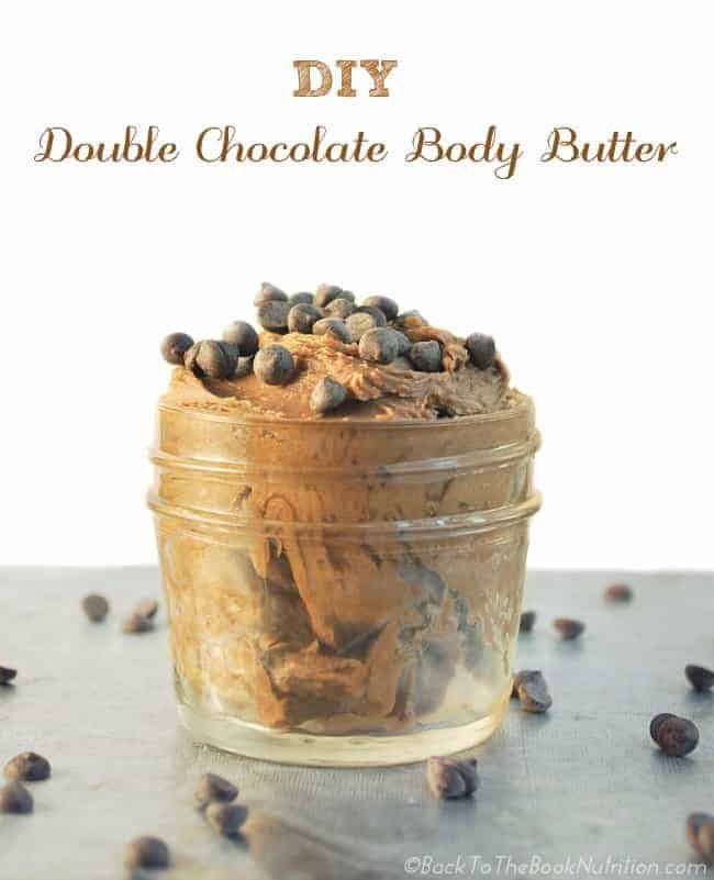 DIY Double Chocolate Body Butter is luxurious and smells divine - A perfect gift for the true chocolate lover! | Back To The Book Nutrition