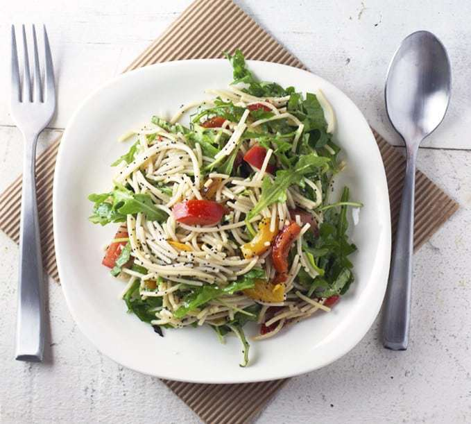 Pasta Salad Recipe Roundup - Arugula Pasta Salad | Back To The Book Nutrition