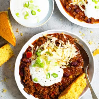 Real Texas Chili (Slow Cooker option)