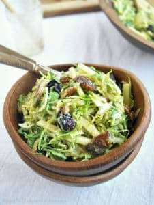 Brussels Sprouts Salad with Warm Bacon Dressing | Back To The Book Nutrition
