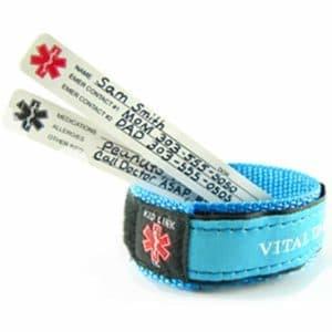 Vital ID child safety bracelet