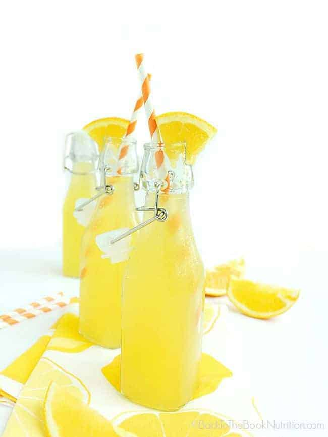 Naturally sweet orange soda fermented with whey to add probiotics for a healthy gut!   Back To The Book Nutrition