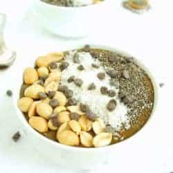 Chocolate Peanut Butter Green Smoothie Bowl | Back To The Book Nutrition