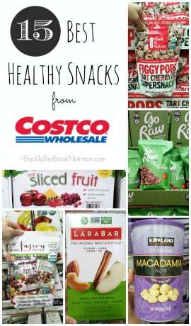 15 Best Healthy Snacks from Costco. No sugar added, no artificial flavors, & minimally processed. Perfect for school lunch and kids snacks!