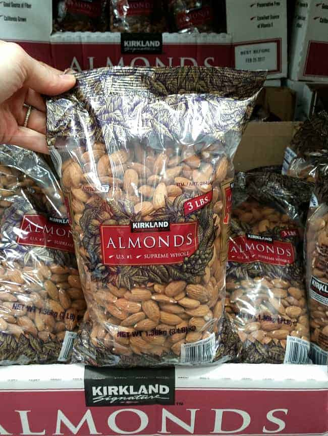 Raw almonds from Costco | Back To The Book Nutrition