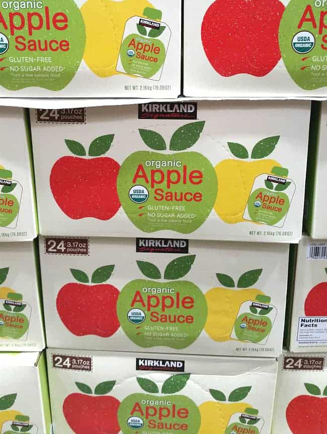 Applesauce pouches from Costco | Back To The Book Nutrition