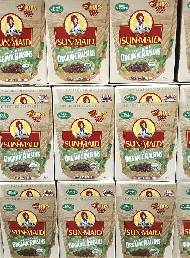 Organic raisins from Costco   Back To The Book Nutrition