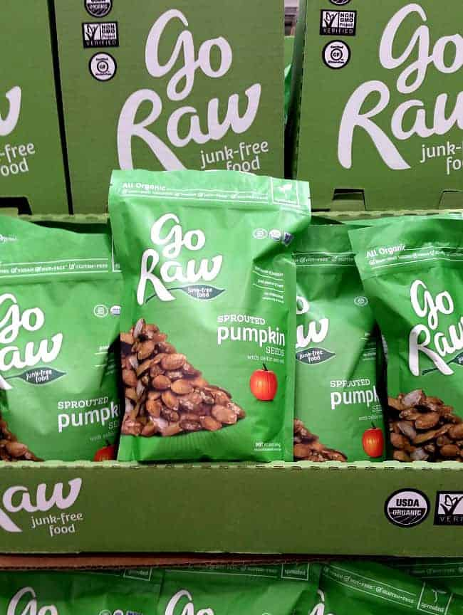 Go Raw Sprouted Pumpkin Seeds from Costco   Back To The Book Nutrition
