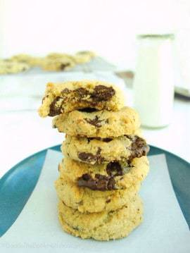 The BEST grain free chocolate chunk cookies you'll ever have - seriously, you'd never know the difference!