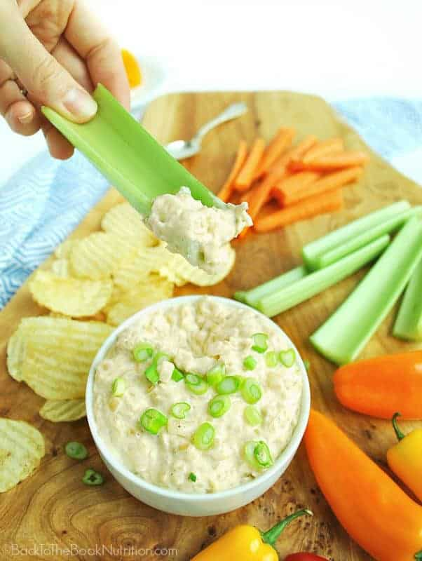 Caramelized Onion and Shallot Dip is the perfect appetizer for your next dinner party or picnic! | Back To The Book Nutrition