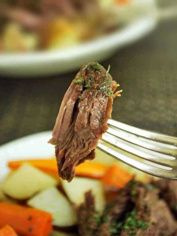The best beef roast you've ever had, guaranteed! Made with only 4 real food ingredients and 30 min of hands on time. | Back To The Book Nutrition