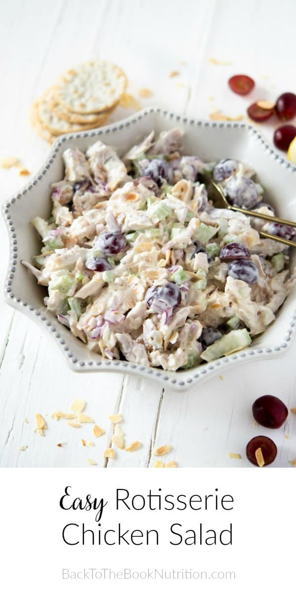 Easy Rotisserie Chicken Salad Back To The Book Nutrition