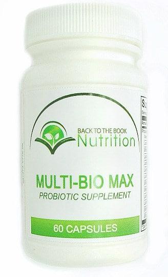 Multi-Bio Max Pobiotic - a high-potency, multi-strain probiotic to support gut health, brain health, and more!