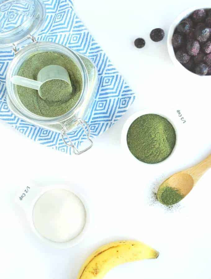 2 Ingredient DIY Protein Powder + Greens, plain flavor, dairy free, sugar free, all natural | Back To The Book Nutrition