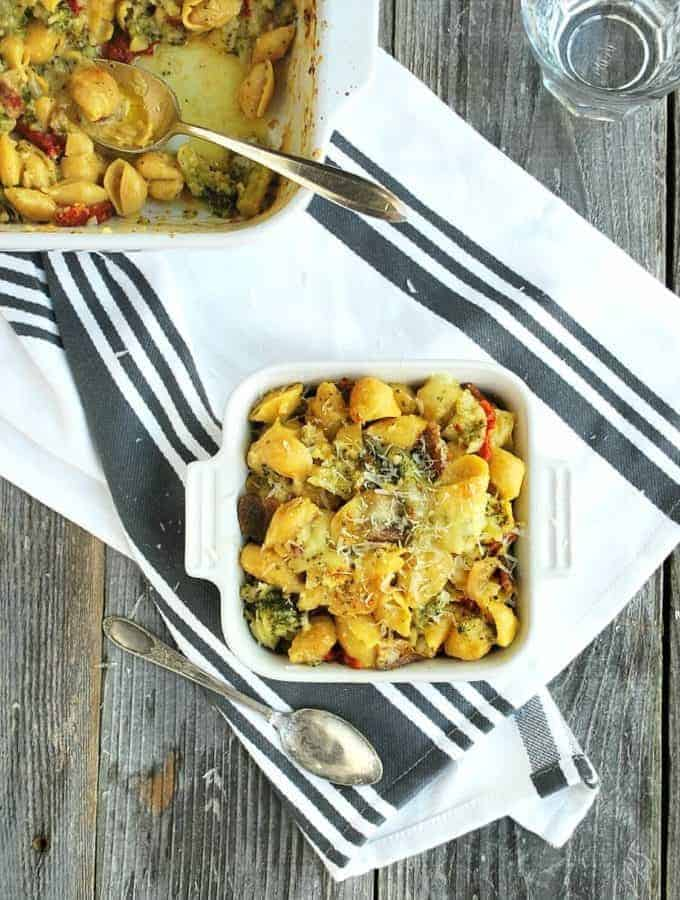 Italian Veggie Mac and Cheese with 4 veggies and 3 cheeses! | Back To The Book Nutrition