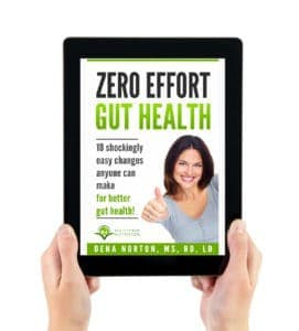 Zero Effort Gut Health eBook on Tablet