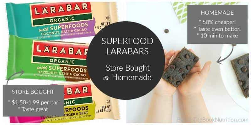 Superfood Larabars - store bought vs homemade. Spoiler alert - homemade tastes better and are 50% cheaper! | Back To The Book Nutrition