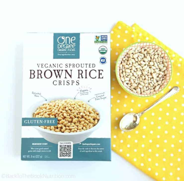 Healthy sprouted brown rice crisps cereal - gluten free | Back To The Book Nutrition