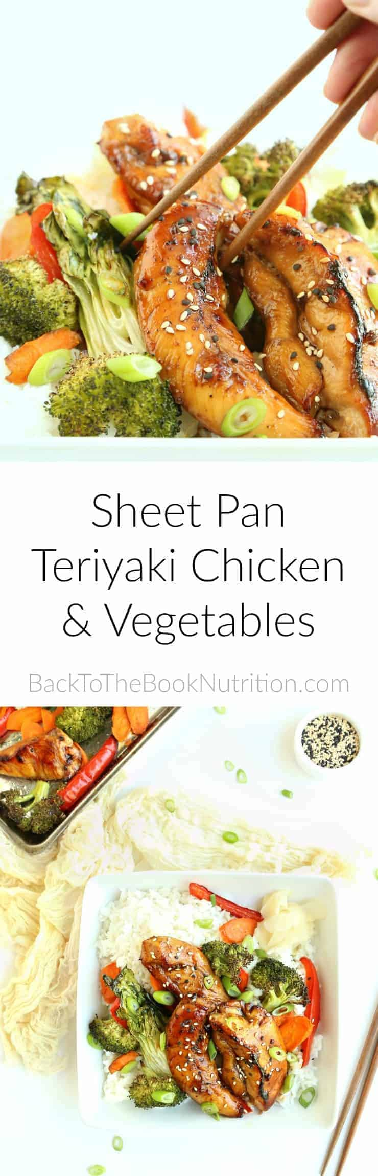 Gluten free sheet pan teriyaki chicken and vegetables