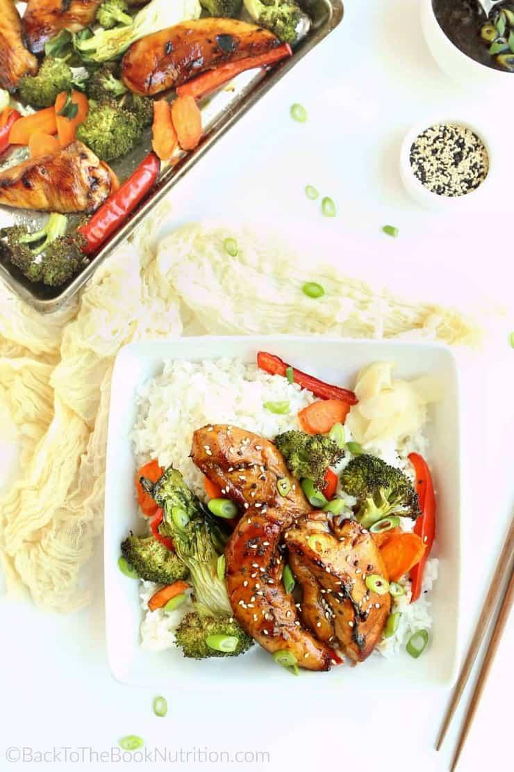 Easy sheet pan teriyaki chicken and vegetables