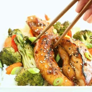Teriyaki Chicken and vegetables over rice
