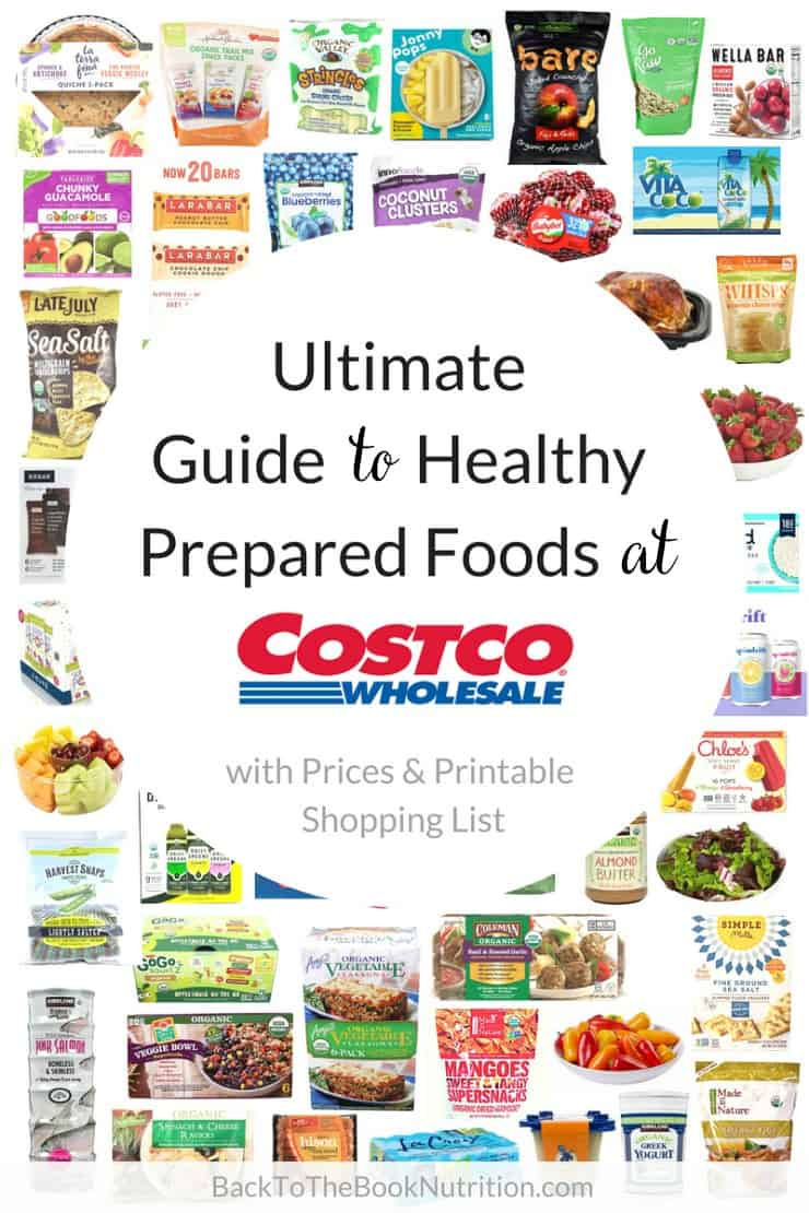 ultimate guide to healthy prepared foods at costco printable