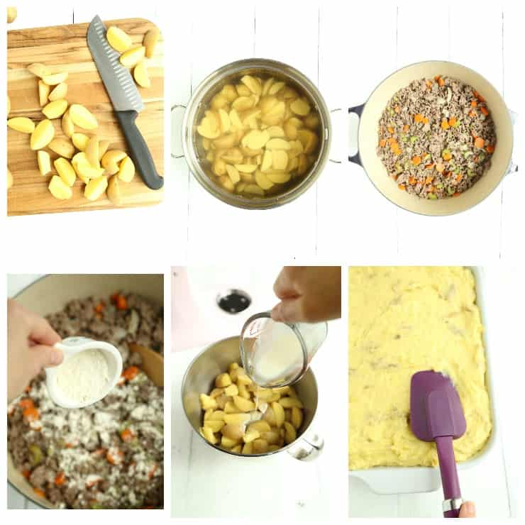 step by step instructions for making classic Cottage Pie