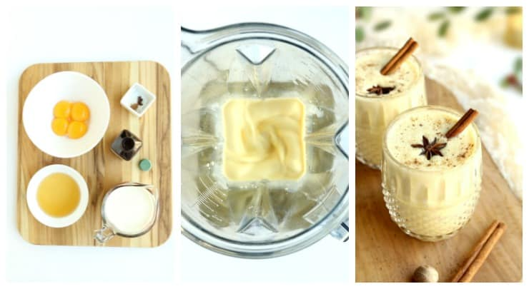 Step by Step instructions for making easy eggnog